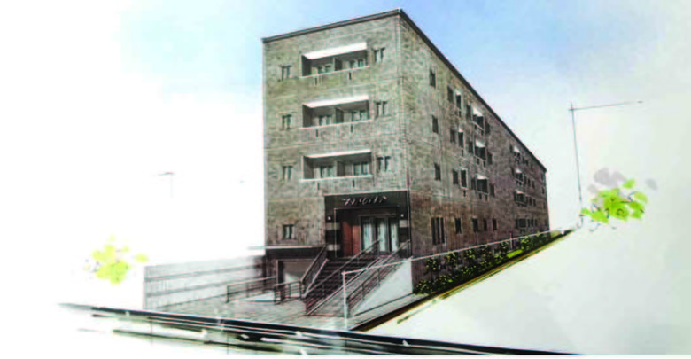 市の中心地に耐震構造の日系サービスアパート
