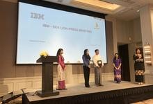 IBMとSea Lionのエージェント契約の締結記者会見をRosewood Hotelで開催